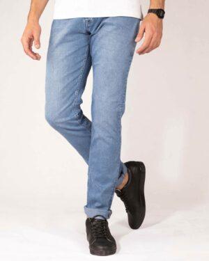 شلوار جین اسپرت مردانه آبی آسمانی- روبرو
