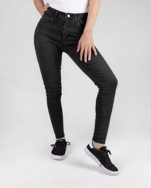 شلوار جین زنانه دودی- دودی تیره- روبرو