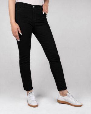 شلوار جین ساده مشکی زنانه- روبرو