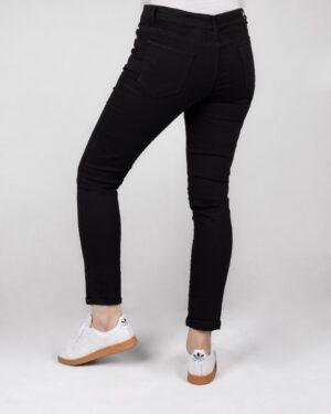 شلوار جین ساده مشکی زنانه- پشت