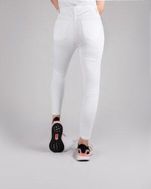 شلوار جین سفید زنانه- پشت