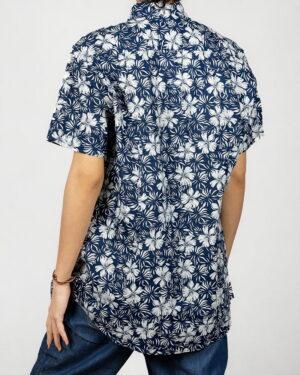 پیراهن آستین کوتاه زنانه طرح هاوایی- پشت