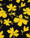 پیراهن نخی طرح دار زنانه- زرد (8)