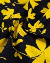 پیراهن نخی طرح دار زنانه- زرد (9)