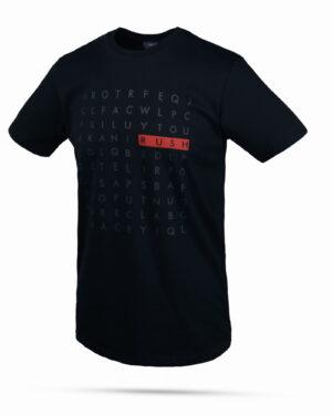 تیشرت طرح حروف انگلیسی- سرمه ای- روبرو