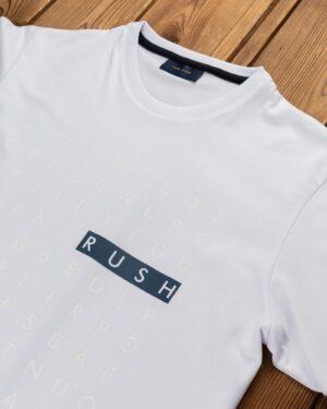 تیشرت طرح حروف انگلیسی- سفید-یقه