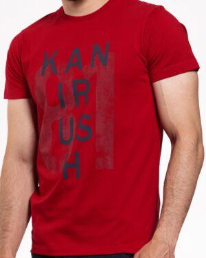تیشرت طرح نوشته نخی- قرمز- روبرو- محیطی
