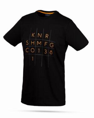 تیشرت نخی طرح عدد و حروف- مشکی- روبرو محیطی