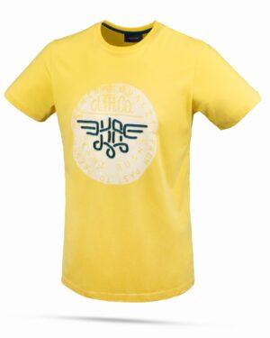 تیشرت پسرانه طرح برجسته اسپرت- زرد- نمای روبرو