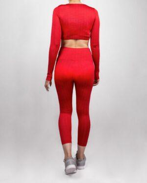 ست ورزشی زنانه- قرمز- پشت