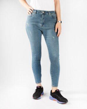 شلوار جین زنانه نیلی- روبرو