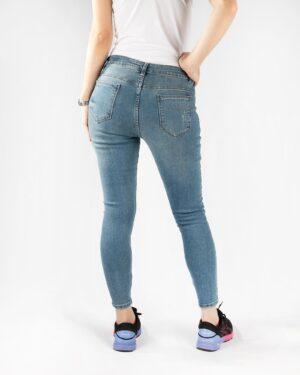 شلوار جین زنانه نیلی- پشت