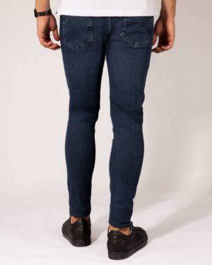 شلوار جین مردانه اسلیم فیت- آبی تیره- پشت