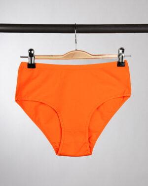 شورت زنانه مدل فرانسوی- نارنجی- روبرو