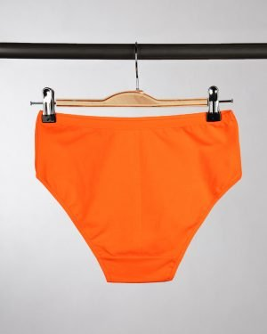 شورت زنانه مدل فرانسوی- نارنجی- پشت