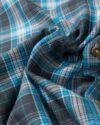 پیراهن چهارخانه آستین بلند آبی آسمانی- طرح