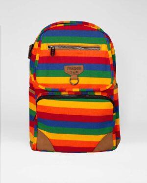 کوله پشتی اسپرت کتان- چند رنگ- نمای روبرو- محیطی
