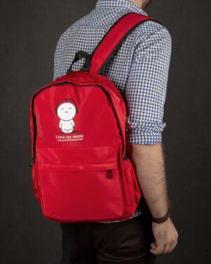 کوله پشتی طرح نوشته- قرمز- محیطی