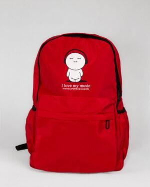کوله پشتی طرح نوشته-قرمز- نمای روبرو محیطی