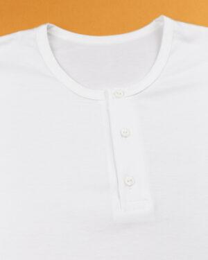 زیرپوش مردانه کد 1041- سفید- یقه