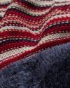 ست شال و کلاه و دستپوش 15034- زرشکی- طرح