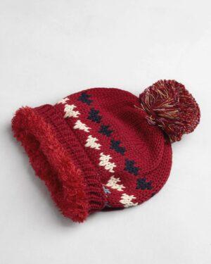 ست شال و کلاه 67001- قرمز- کلاه 2