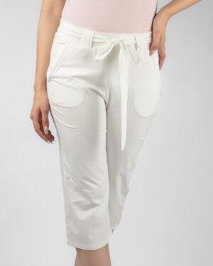 شلوارک زنانه- سفید- روبرو