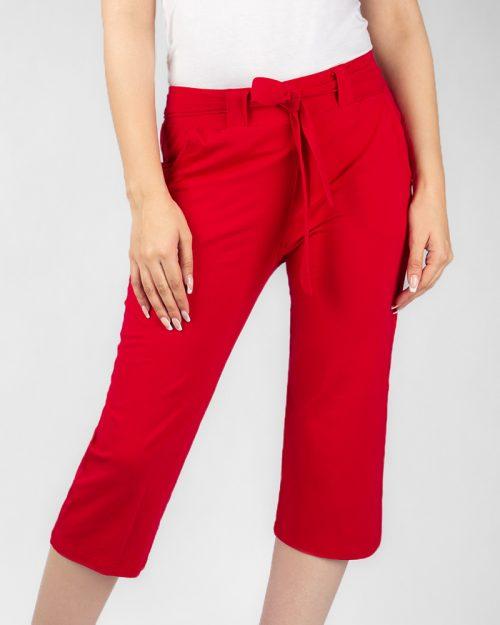 شلوارک زنانه- قرمز- روبرو
