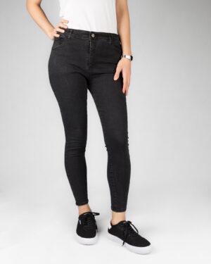 شلوار جین زنانه تیره- مشکی- روبرو