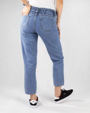 شلوار جین مام استایل- آبی روشن- پشت
