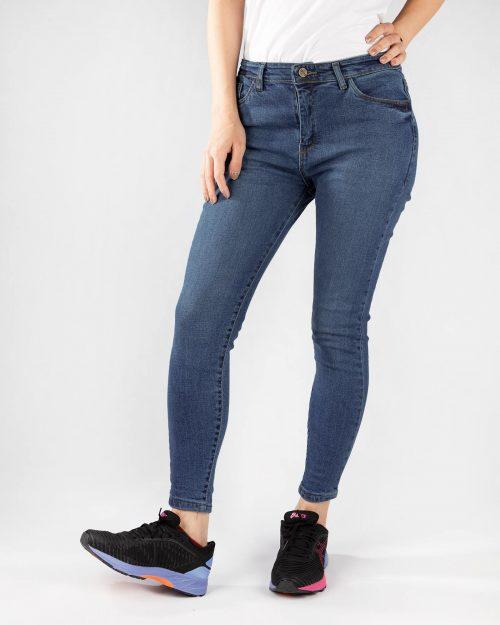 شلوار زنانه جین-آبی- روبروئ