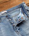 شلوار مردانه جین- آبی روشن- دکمه