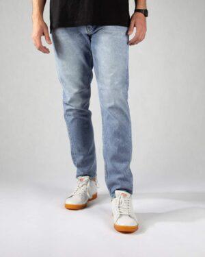 شلوار مردانه جین- آبی روشن- روبرو