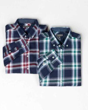 پیراهن مردانه چهارخانه-روبرو