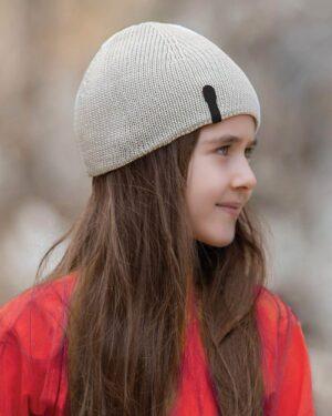 کلاه بافت بچگانه- خاکستری محو- محیطی