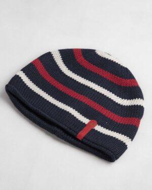 کلاه بافت بچگانه- سرمه ای تیره- روبرو