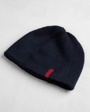 کلاه بافت بچگانه- سرمه ای تیره- پشت