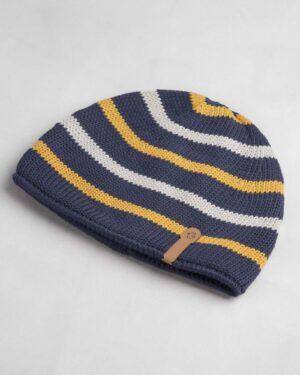 کلاه بافت بچگانه- سرمه ای- روبرو