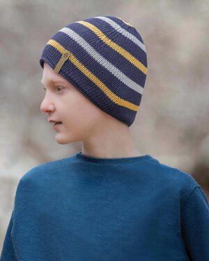 کلاه بافت بچگانه- سرمه ای- محیطی