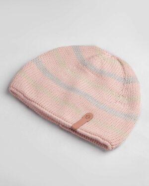 کلاه بافت بچگانه- صورتی- روبرو