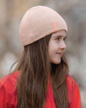 کلاه بافت بچگانه- صورتی- محیطی