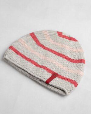 کلاه بافت بچگانه- طوسی کمرنگ- روبرو