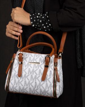 کیف دستی زنانه - سفید- روبرو محیطی