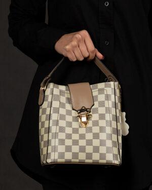 کیف دستی زنانه- نخودی- روبرو محیطی