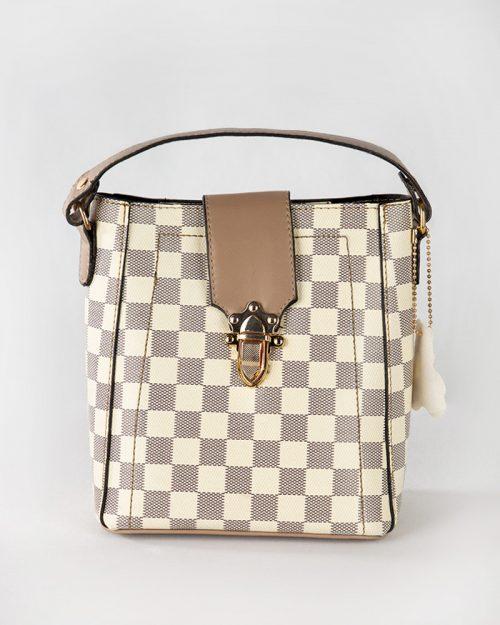 کیف دستی زنانه- نخودی- روبرو