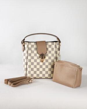 کیف دستی زنانه- نخودی- محیطی