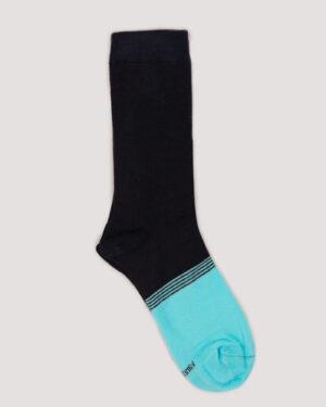 جوراب ساق بلند 4T9- آبی فیروزه ای (4)