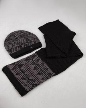 ست شال و کلاه - خاکستری تیره- ست