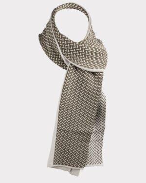 شال گردن 23017-خاکستری محو- روبرو