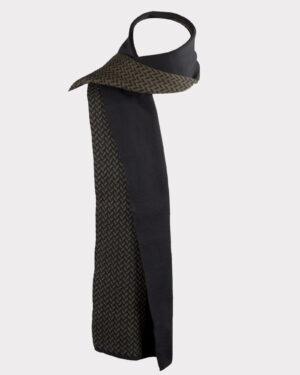 شال گردن 23017-زیتونی سیر- نمای روبرو